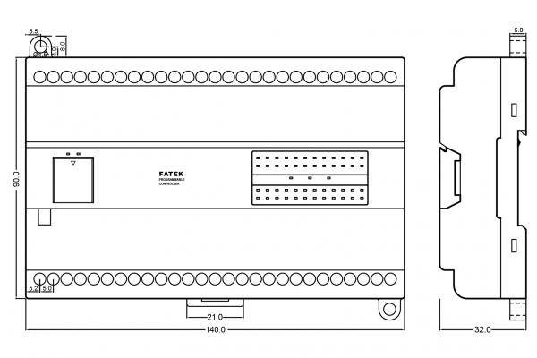 Extensie dreapta PLC Fatek B1-40XY