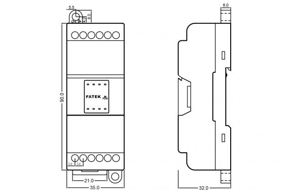 Extensie dreapta Fatek B1-8X