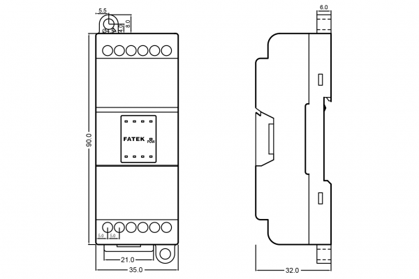 extensie dreapta PLC Fatek B1-8Y 8 DO