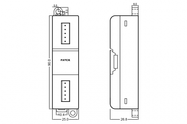 Extensie dreapta Fatek B1-L2A2D
