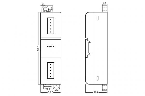Extensie dreapta Fatek B1-L4NTC