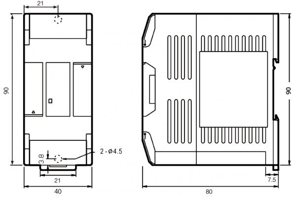 Extensie dreapta Fatek FBs-4A2D 4 intrări și 2 ieșiri analogice