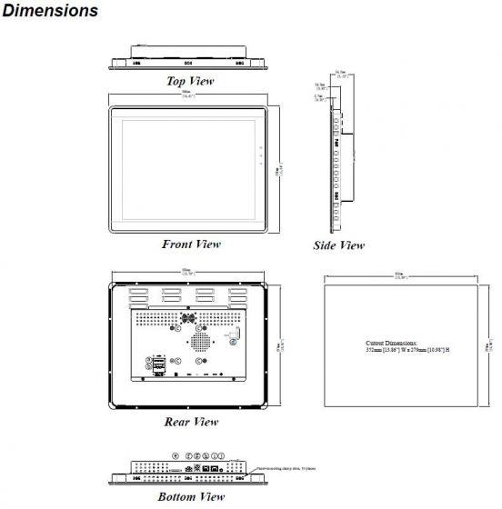 PC Industrial Weintek cMT-iPC15